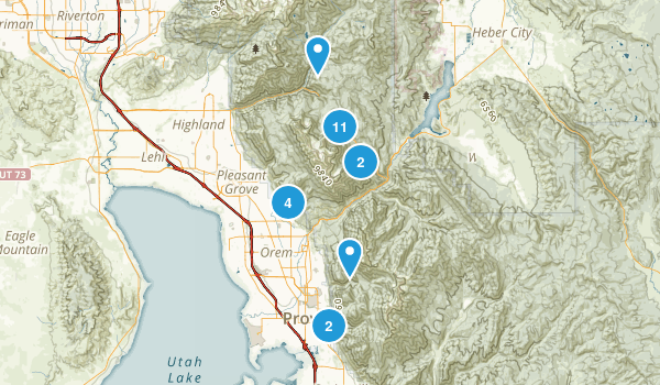 Mount Timpanogos Wilderness Map