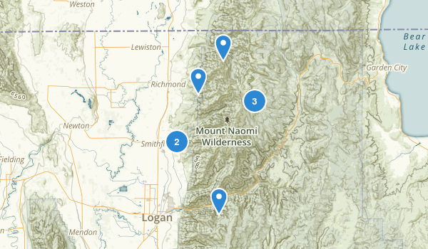 Mount Naomi Wilderness Map