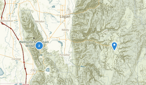 Wellsville Mountain Wilderness Map