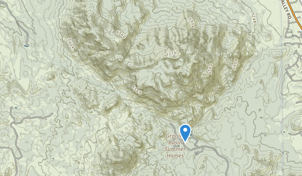 trail locations for Granite Mountain Wilderness