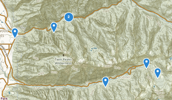 Twin Peaks Wilderness Map