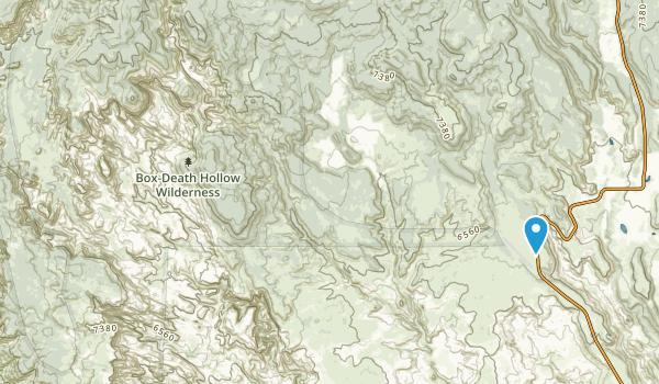 Box-Death Hollow Wilderness Map