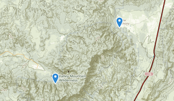 trail locations for Pine Valley Mountain Wilderness