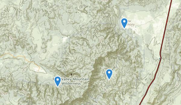 Pine Valley Mountain Wilderness Map