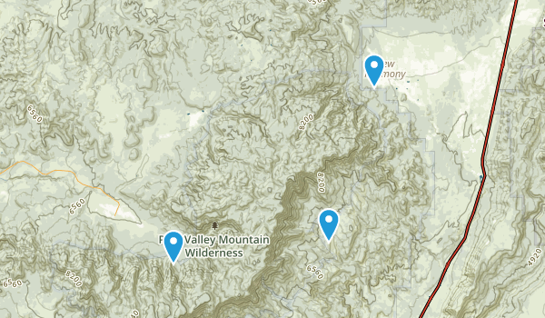 Pine Valley Mountain Wilderness Map