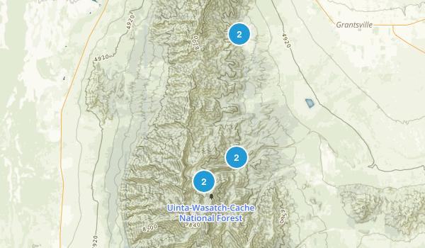 Deseret Peak Wilderness Map