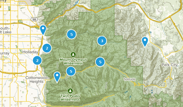 Mount Olympus Wilderness Map