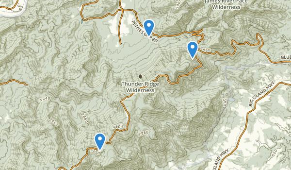 Thunder Ridge Wilderness Map