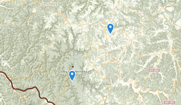 Clifty Wilderness Map