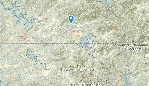 Brasstown Wilderness Map