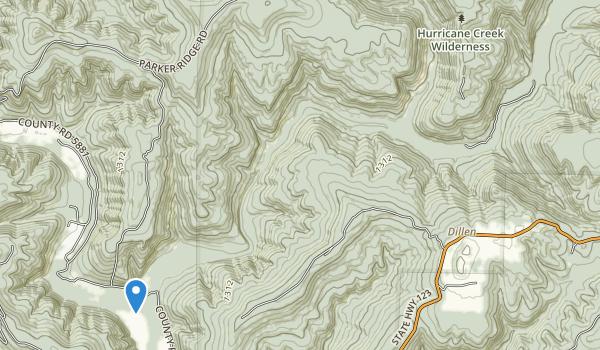 Hurricane Creek Wilderness Map