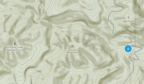 Richland Creek Wilderness Map
