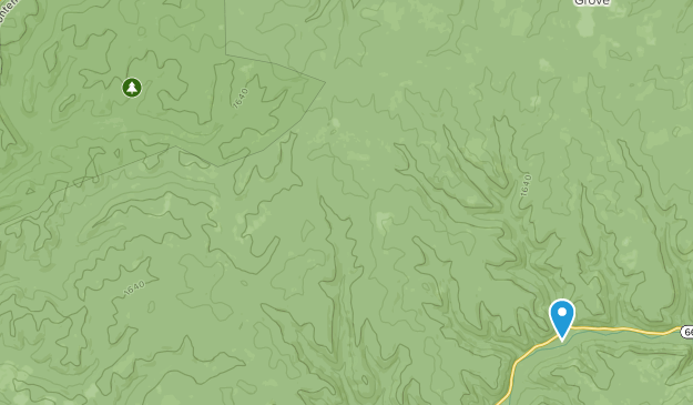 Hickory Creek Wilderness Map