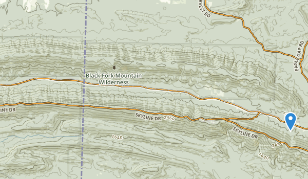 Black Fork Mountain Wilderness Map