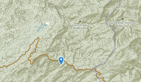 trail locations for Citico Creek Wilderness