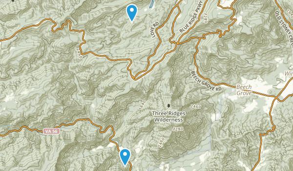 Three Ridges Wilderness Map