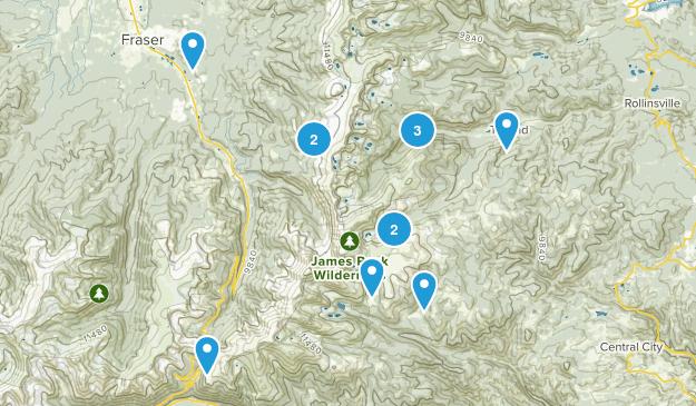 James Peak Wilderness Map