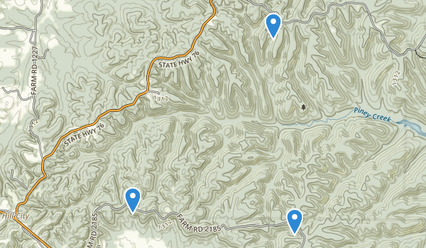 Piney Creek Wilderness Map