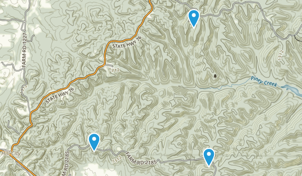 Piney Creek Wilderness Map