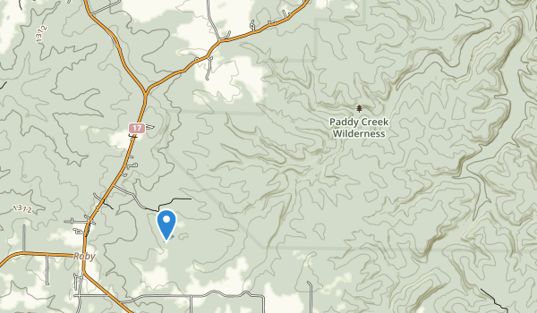 Paddy Creek Wilderness Map