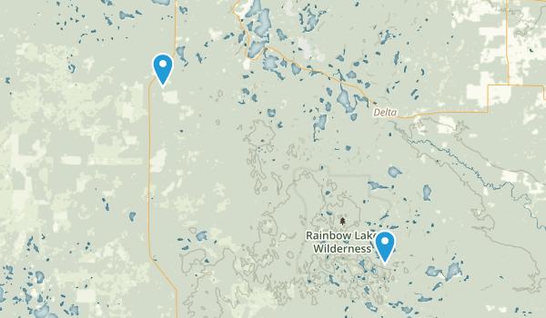 Rainbow Lake Wilderness Map