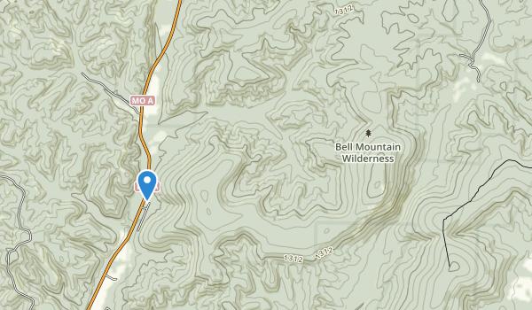 Bell Mountain Wilderness Map