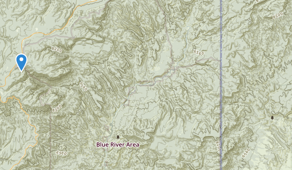 trail locations for Blue Range Wilderness