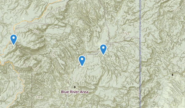 Blue Range Wilderness Map
