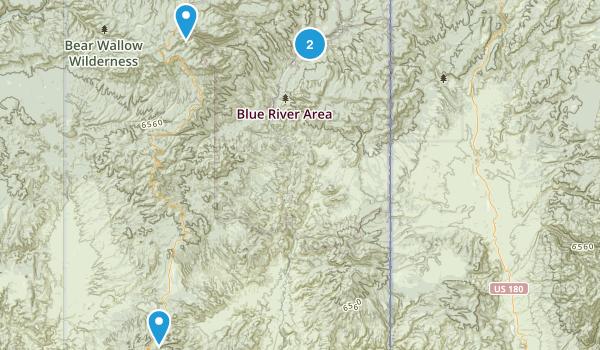 Blue Range Wilderness Map