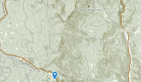 Breadloaf Wilderness Map