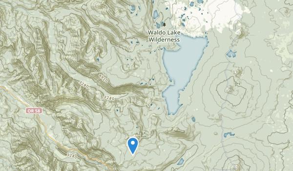 trail locations for Waldo Lake Wilderness