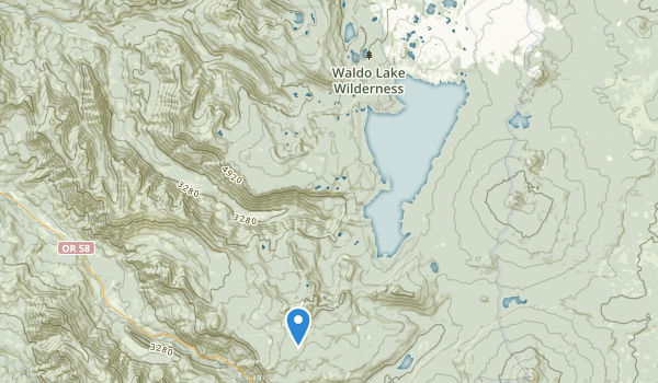 trail locations for Waldo Lake Wilderness