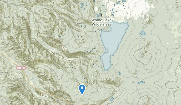 Waldo Lake Wilderness Map
