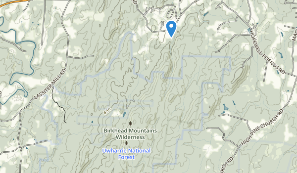 trail locations for Birkhead Mountains Wilderness