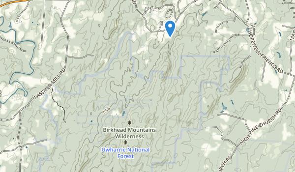Birkhead Mountains Wilderness Map