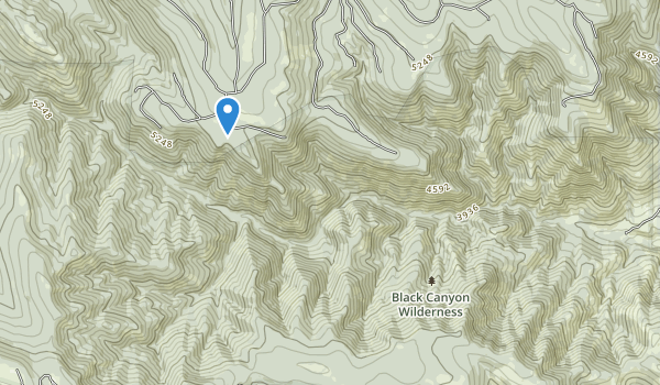 trail locations for Black Canyon Wilderness