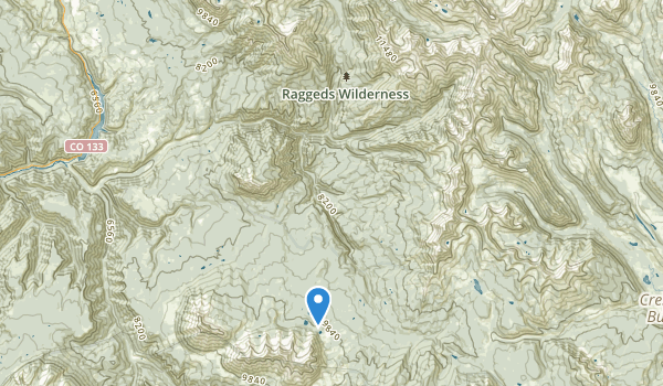 trail locations for Raggeds Wilderness
