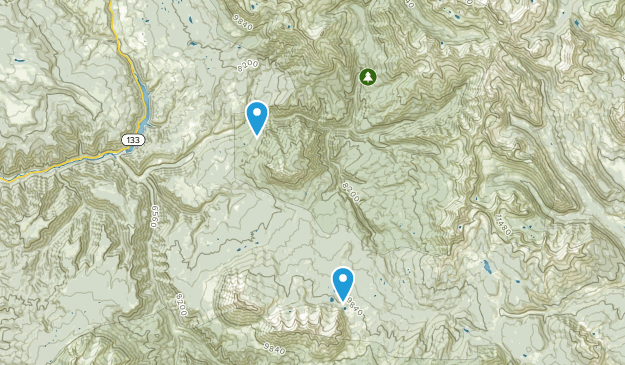 Raggeds Wilderness Map