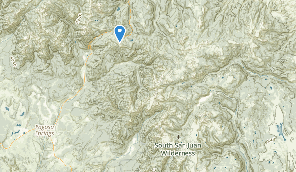 trail locations for South San Juan Wilderness