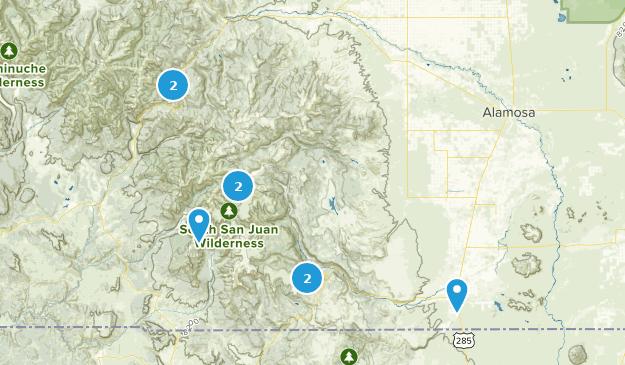 South San Juan Wilderness Map