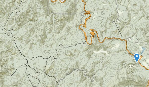 trail locations for Black Elk Wilderness