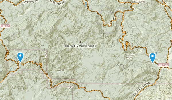Black Elk Wilderness Map