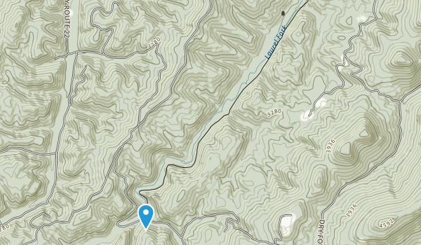 Laurel Fork North Wilderness Map