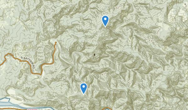 trail locations for Drift Creek Wilderness