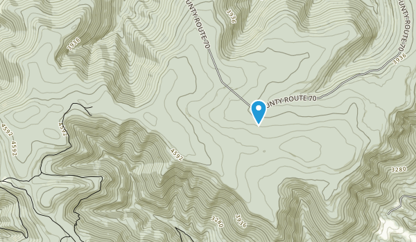 Roaring Plains West Wilderness Map