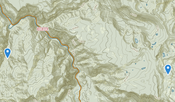 trail locations for Roaring River Wilderness