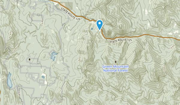 Joseph Battell Wilderness Map