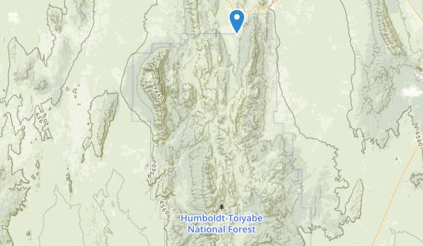 White Pine Range Wilderness Map