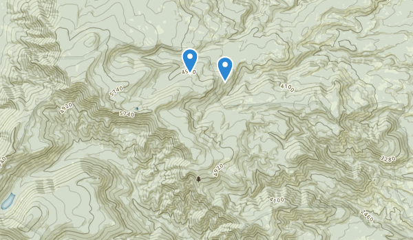 trail locations for Badger Creek Wilderness