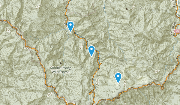 Middle Prong Wilderness Map